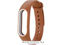 Ремешок Xiaomi для Mi Band 2 (коричневый/белый)