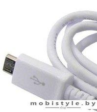 Кабель M-acs Microusb (1m white)