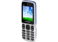Мобильный телефон Maxvi C22 (белый/голубой)