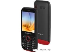 Мобильный телефон Maxvi K17 (черный/красный)
