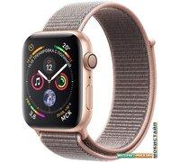 Умные часы Apple Watch Series 4 44 мм (алюминий золотистый/нейлон розовый песок)