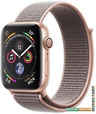 Умные часы Apple Watch Series 4 40 мм (алюминий золотистый/нейлон розовый песок)