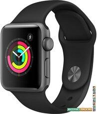 Умные часы Apple Watch Series 3 38 мм (алюминий серый космос/черный)
