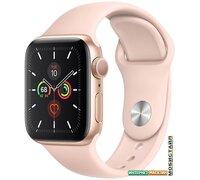 Умные часы Apple Watch Series 5 40 мм (алюминий золотистый/розовый песок)