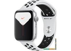 Умные часы Apple Watch Nike Series 5 44 мм (алюминий серебристый/чистая платина)