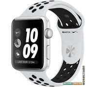 Умные часы Apple Watch Nike+ 42 мм (серебристый алюминий/чистая платина, черный)