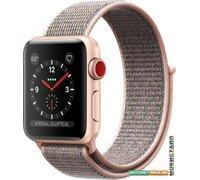 Умные часы Apple Watch Series 3 LTE 38 мм (алюминий/розовый песок нейлон)
