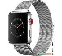 Умные часы Apple Watch Series 3 LTE 42 мм (сталь/миланский браслет)