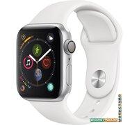 Умные часы Apple Watch Series 4 40 мм (алюминий серебристый/белый)