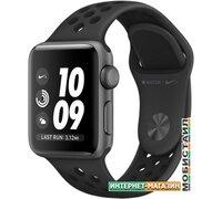 Умные часы Apple Watch Nike+ 38 мм (алюминий серый космос/антрацитовый, черный)
