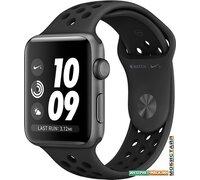 Умные часы Apple Watch Nike+ 42 мм (серый космос/антрацитовый, черный)