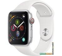 Умные часы Apple Watch Series 4 LTE 44 мм (алюминий серебристый/белый)