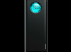 Baseus Ambilight Quick Charger Digital Display Power Bank PD3.0+QC3.0 20000mAh черный