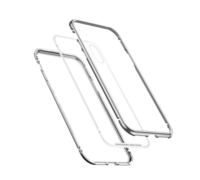 Baseus magnetite hardware Case For iPhone XR серебристый