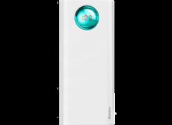 Baseus Ambilight Quick Charger Digital Display Power Bank PD3.0+QC3.0 20000mAh белый