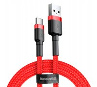 Кабель Baseus cafule Cable USB For Type-C 2A 3m Красный+красный