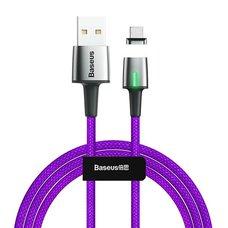 Кабель Baseus Zinc Magnetic USB для Type-C 3A 1m фиолетовый