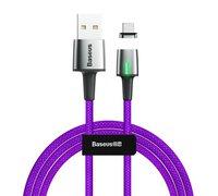 Кабель Baseus Zinc Magnetic USB для iPhone 2.4A 1m фиолетовый