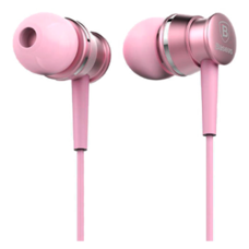 Наушники Baseus Lark Series Wired Earphone розовый