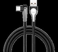 Кабель Baseus MVP Elbow Mobile Game сable 2м Type-C/USB черный