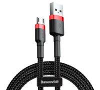 Кабель Baseus cafule Cable USB For Micro 2A 3m красный+черный