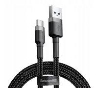 Кабель Baseus cafule Cable USB For Type-C 2A 3m Серый+черный