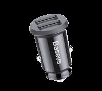 Автомобильное зарядное устройство Baseus Grain Car Charger 3.1A dual-USB черный