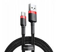 Кабель Baseus cafule Cable USB For Type-C 2A 3m Красный+черный