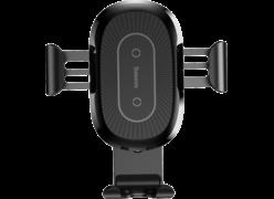 Держатель Baseus Wireless Gravity с беспроводной зарядкой черный