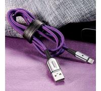 Кабель Baseus X-type lightning 2.4 А 1 М фиолетовый