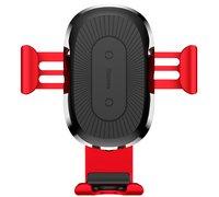 Держатель Baseus Wireless Gravity с беспроводной зарядкой красный