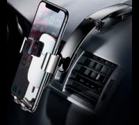 Автомобильный держатель Baseus Metal Age Gravity Car Mount Connecting Rod Type черный
