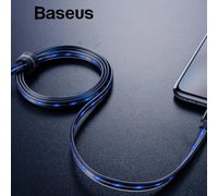 Кабель Baseus Glowing Data cable USB For Lightning черный