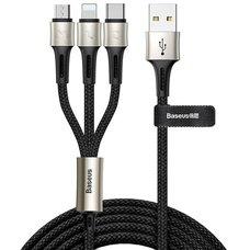 Кабель Baseus caring touch selection 1-in-3 USB cable черный