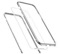 Baseus magnetite hardware Case For iPhone XS серебристый