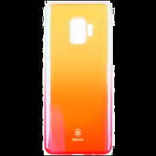 Чехол Baseus Glaze for Samsung Galaxy S9 оранжевый