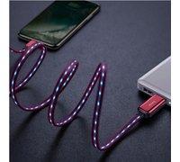 Кабель Baseus Glowing Data cable USB For Lightning красный