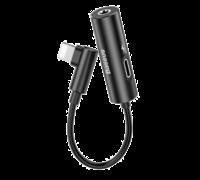 Аудио-переходник для iPhone Baseus L42 IP Male to 3.5mm+IP Female Adapter черный