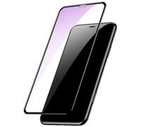 Защитное стекло Baseus Full-glass Tempered 0.3mm для iPhone 6.5 черный(anti-blue light)