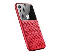 Чехол Baseus Glass & Weaving Apple iPhone XS Max красный