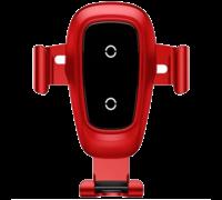 Автодержатель Baseus Metal Gravity Car Mount Silver 10W красный