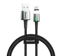 Кабель Baseus Zinc Magnetic USB для Micro 2.4A 1m черный