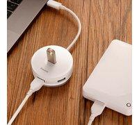 Хаб Baseus Round Box HUB Adapter USB 3.0 to USB3.0х1+USB2.0х3 белый