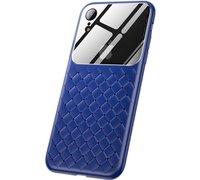 Чехол Baseus Glass & Weaving Apple iPhone XR синий