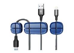 Держатель для проводов Baseus Cross Peas Cable Clip синий