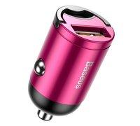 Автомобильное зарядное устройство Baseus Tiny Star Mini Quick Charge USB Port 30W розовый