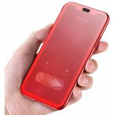 Чехол-книжка для iPhone X/XS с сенсорной крышкой Baseus Touchable Case красный