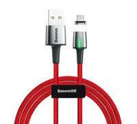 Кабель Baseus Zinc Magnetic USB для Micro 2.4A 1m красный