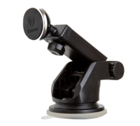 Автомобильный держатель Baseus Solid Series Telescopic Magnetic Car Mount серебряный