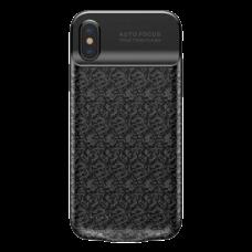 Чехол-аккумулятор Baseus Plaid Backpack 3500 мАч для iPhone X черный
